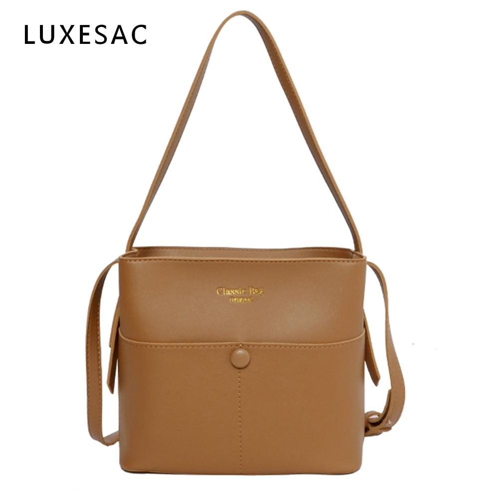 Soft Pu Leather Crossbody Bags For Women 2020 New Luxury Handbags Bolsa Feminina Retro Solid Color Women's Shoulder Bag Bolsos