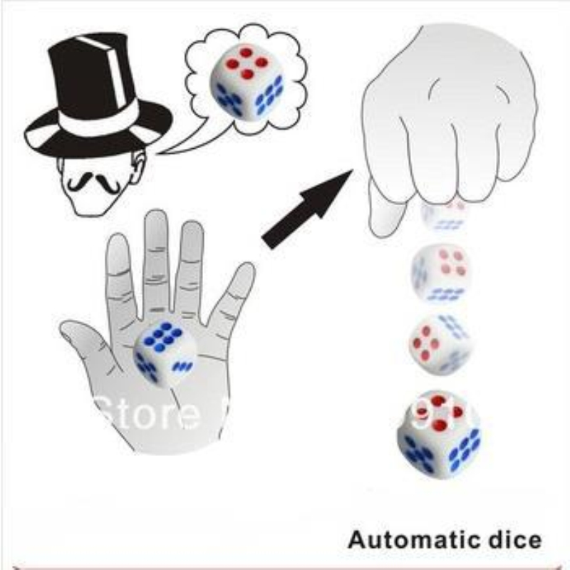 Free Shipping,Automatic Dice- Magic Trick,Stage Magic Props,Close Upmagic,Mentalism,Comedy,Magia Toys Classic Magie Magician
