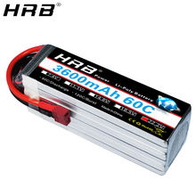 HRB 6S 22.2V Lipo Battery 3600mah XT60 T Deans EC5 XT90 XT90-S AS150 Female RC Helicopter