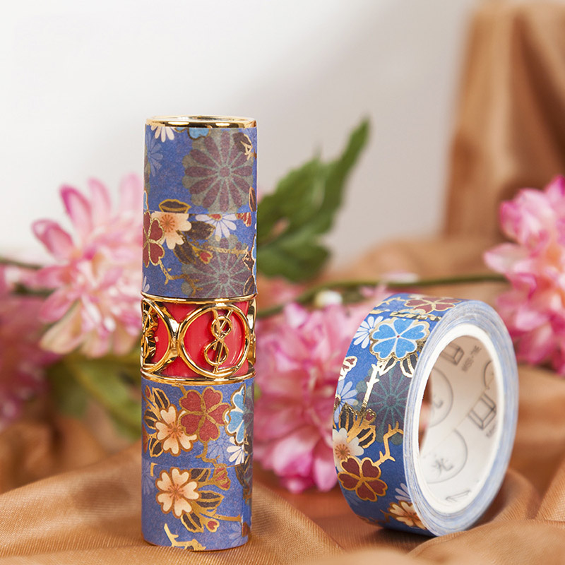 15mm*5m Kawaii Adhesive Tape Vintage Foil Washi Tape Flower Masking Tapes For Kid Scrapbooking Photos Albums Supplies Stationery