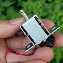 DC 12V Mini DC Solenoid elektromıknatıs İtme çekme tipi 2 yollu kendinden Retainin elektrik mıknatıs ev için aletleri bahar mıknatıs
