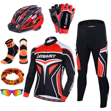 Bike Clothing Bicycle-Dress Cycling Outfit Sportswear Jersey-Set Long-Sleeve Pro-Team