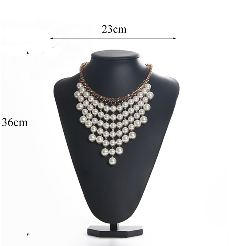 Black PU Model Bust Show Exhibitor 6 Options Gray Black White Velvet Jewelry Display Necklace Pendants Mannequin Jewelry Stand in Jewelry Packaging Display from Jewelry Accessories