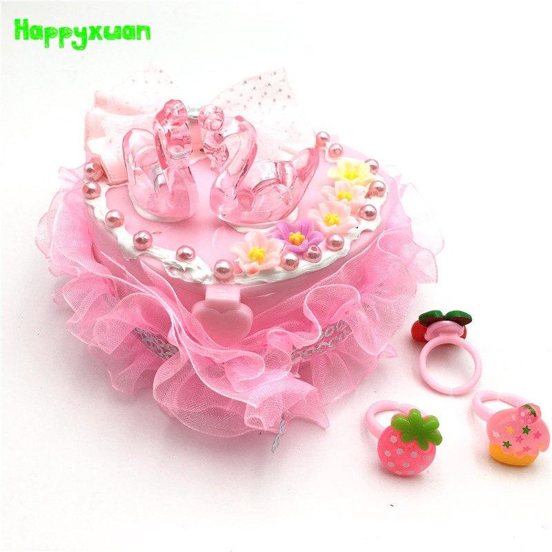 Happyxuan Children DIY Princess Jewelry Box Kids Fun Arts and Crafts Material Kits Girls Creative Birthday Gift Educational Toys