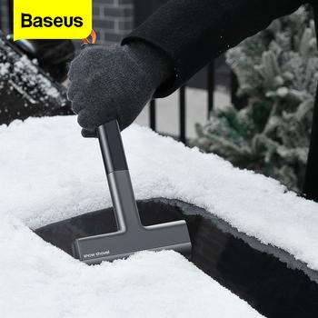 Baseus skrobaczka do szyb szyba do lodu szybkie czyszczenie szczotka do szyby do usuwania śniegu TPU narzędzie Auto okno zimowa łopata do odśnieżania tanie i dobre opinie CN (pochodzenie) 35cm TPU+ABS SKROBACZKA DO LODU 120g 15cm Baseus Quick Clean Car Ice Scraper Rubber+ABS Black Vehicles