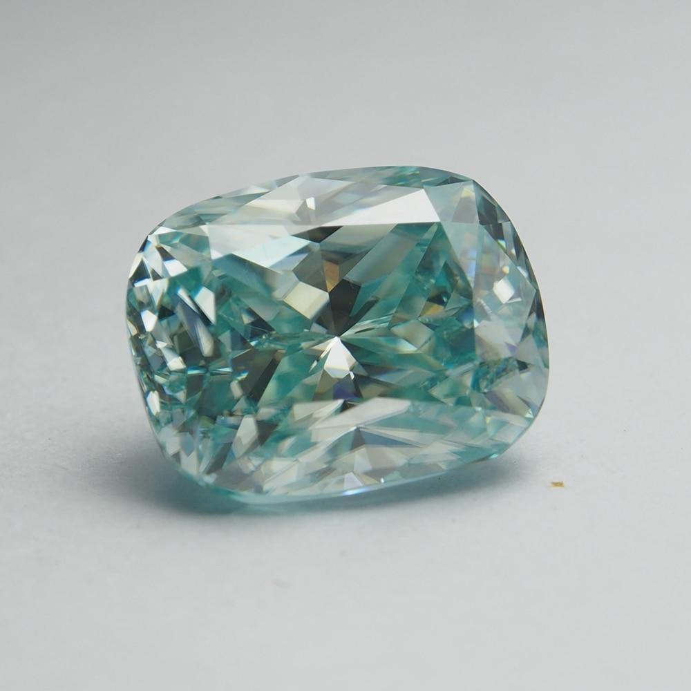 8*10 mm Cushion Cut VVS  Light Blue Moissanite Stone Aquamarine Moissanite Diamond  for Wedding Ring
