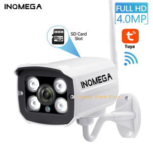 INQMEGA Tuya Wlan Camera Outdoor Wifi Full HD 1080P 2.4 Channel System Metal IP Camera CCTV Home IP Wifi Camera Baby Monitor