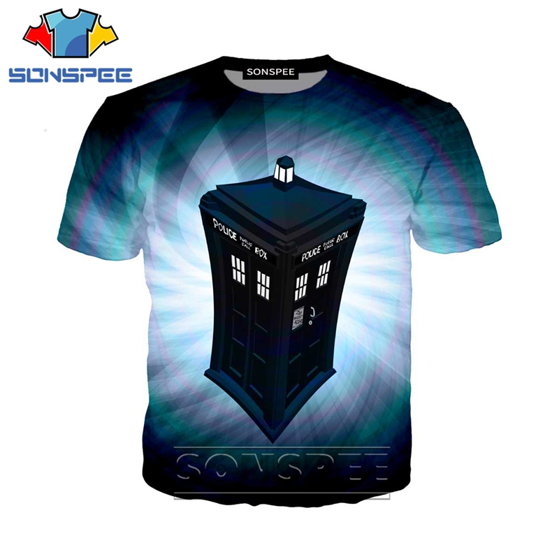 Anime 3d Print Funny T Shirt Men Women Doctor Who Hip Hop Fashion T-shirt Kids Harajuku Tops Tee Funny Shirts Homme Tshirt A253