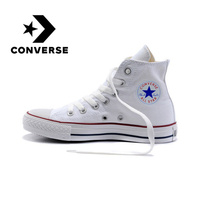Original Authentic Converse ALL STAR Classic High top Unisex Skateboarding Shoes Lace up Durable Canvas Footwear White 101009