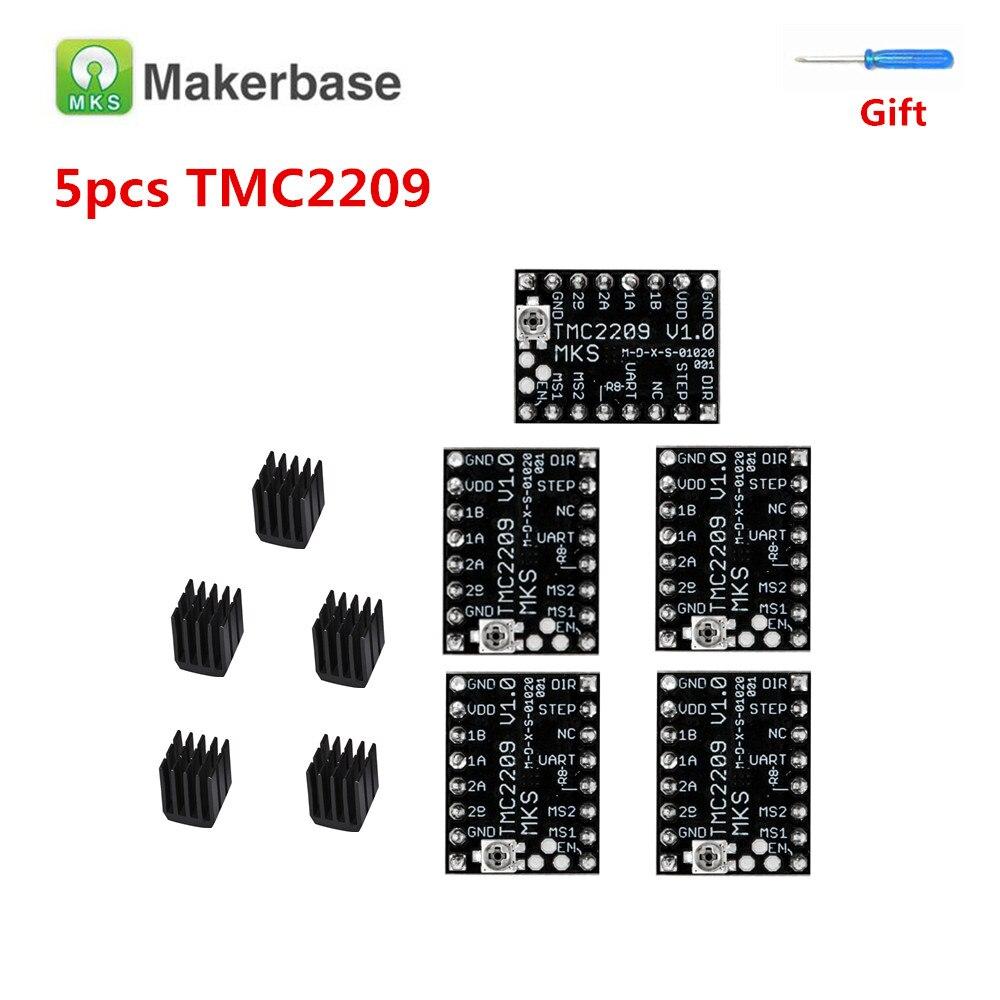 MKS TMC2209 Драйвер шагового двигателя для BIGTREETECH SKR V1.3 TMC 2209 двигатель шаговый драйвер устройство 3d принтер драйвер модуль