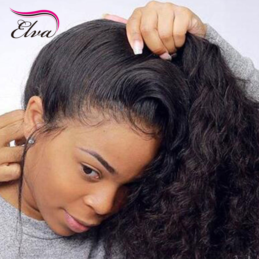Elva Hair 150% Density Full Lace Human Hair Wigs Pre Plucked With Baby Hair Brazilian Remy Curly Lace Hair Wigs For Black Women