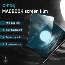 Антибликовая Защитная пленка для экрана синяя со стеклом ноутбуков