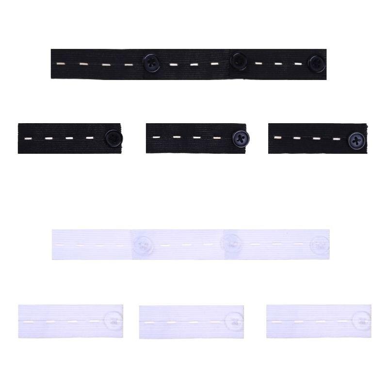 6Pcs/Set Skirt Trousers Jeans Pants Waist Expander Waistband Extender Button Extender Elastic Rubber Band Belt LX9E