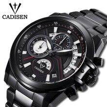 CADISEN 2019 New Mens Watches Top Brand Luxury Military Waterproof Watch Men Quartz Business Wristwatch Relogio Masculino