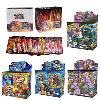360pcs Pokemon cards All series TCG: Sun & Moon Series Evolutions Booster Box Collectible Trading Card Pokemon  1