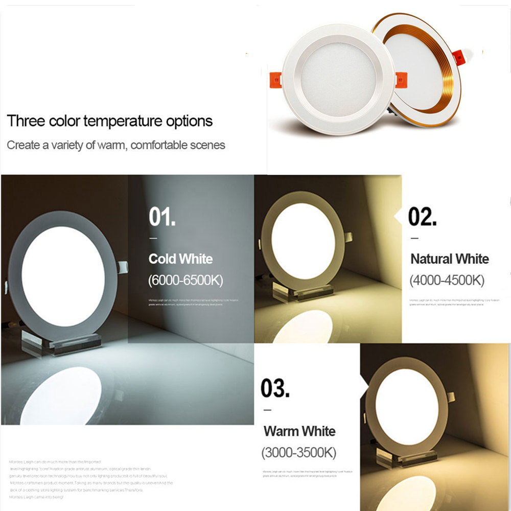 [DBF]Driverless LED Recessed Downlight 2-in-1 SMD 2835 3W 5W 7W 9W 12W AC220V LED Ceiling Spot light Bedroom Indoor Lighting 4
