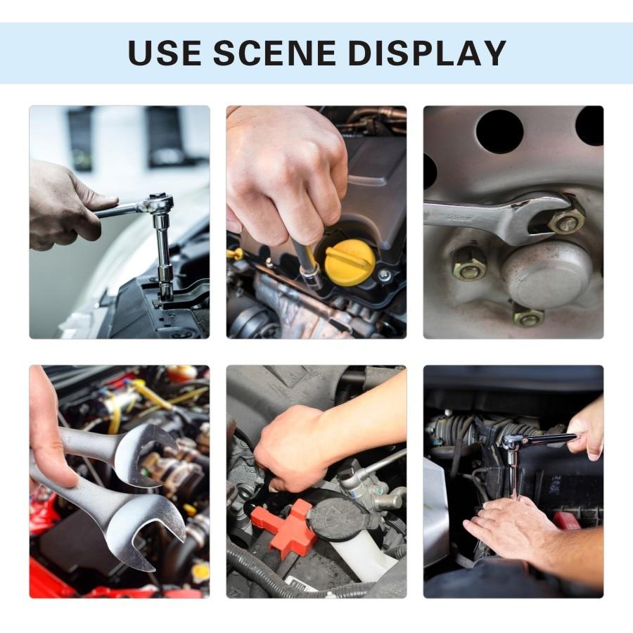 TUOSEN 82 pièces en 1 ensemble d'outils à cliquet à main mécanique ensemble d'outils à clé à douille automatique mini kit de réparation professionnel gereedschap pour voiture - 6