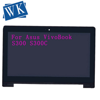 "Original 13.3"" Touch LCD Assembly Screen + Digitizer with Frame For Asus VivoBook S300 S300C S300CA free shipping"