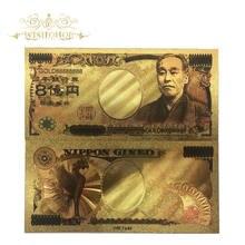 Ouro 888888 10 pçs/lote cor japão ouro cédula oitocentos milhões yen em 24k banhado a ouro para decorações de casa