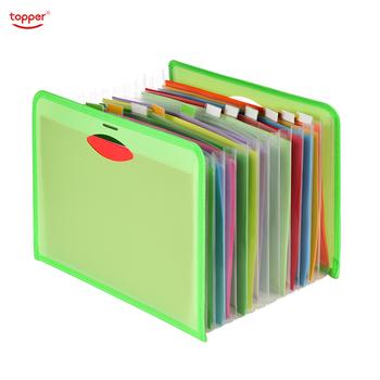 Rozszerzenie pliku A4 12 kieszenie Folder biuro szkoła Portfolio teczki na dokumenty Organizer do dokumentów plastikowe 1500 arkuszy duża pojemność tanie i dobre opinie topper Rozszerzenie portfel 250*330mm V3688