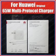 USB C к C PD оригинальный Huawei SuperCharge 65 Вт адаптер питания EU UK MateBook Pro 2020 D15/D14/14/13/E/X Pro MagicBook 15/14/Pro