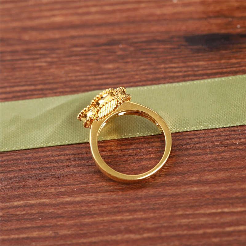 Élégant chaud marque trèfle bande anneaux femmes avec Center zircone Design Original en argent Sterling ensemble véritable pierre Top qualité cadeau