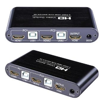 HDMI KLM switch 2 ports Video Switcher 4K USB switch KVM VGA splitter box to share printer keyboard mouse KVM HDMI CGA switch 2 in 1 out 2 port usb hdmi kvm switcher switch 3840x2160 hdmi kvm switch splitter box for mouse keyboard monitor adapter