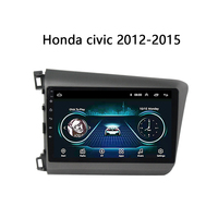 GPS Navigation for 2012 2015 Honda Civic Head unit Multimedia System DVD stereo Android 8.1 10 support Carplay SWC TV bt WiFi