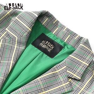 Image 4 - ELFSACK Vintage Plaid mujer Blazers, 2019 otoño nuevo solo Breasted mujer Casual abrigos moda suelta Oficina señora ropa