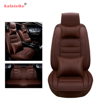 Kalaisike leather Universal Car Seat covers for Honda all models civic accord fit CRV XRV Odyssey City crosstour crider Jazz