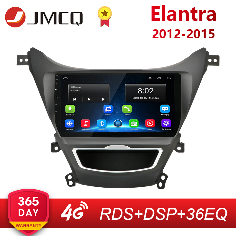 2din 2.5D IPS Android 8.1 Car Radio Stereo Navi For <font><b>Hyundai</b></font> <font><b>Elantra</b></font> 2012-2015 Navigation <font><b>GPS</b></font> Head Unit 2G+32G 4G+WiFi RDS DSP image