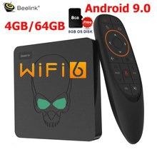 Beelink GT-rey Android 9,0 TV BOX Amlogic S922X GT 4 rey G DDR4 64G EMMC Dispositivo de TV inteligente wifi 6 Dual WIFI 1000M LAN 4K de la consola