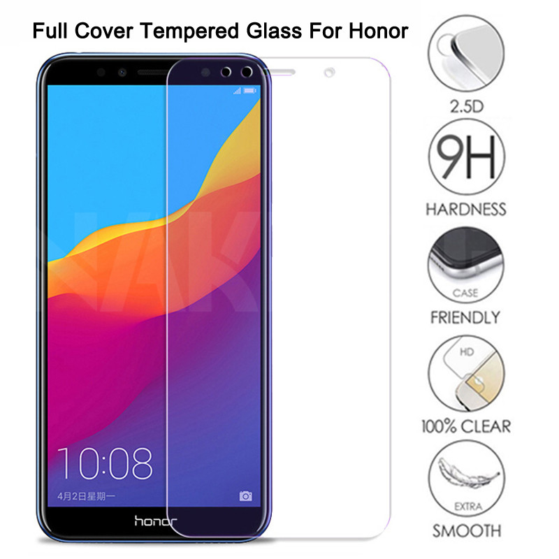 9H Tempered Glass on the For Huawei Honor 7A 7C 7X 7S Screen Protector Glass Honor 8 Lite 8X 8A 8C 9X Protective Glass Film Case(China)
