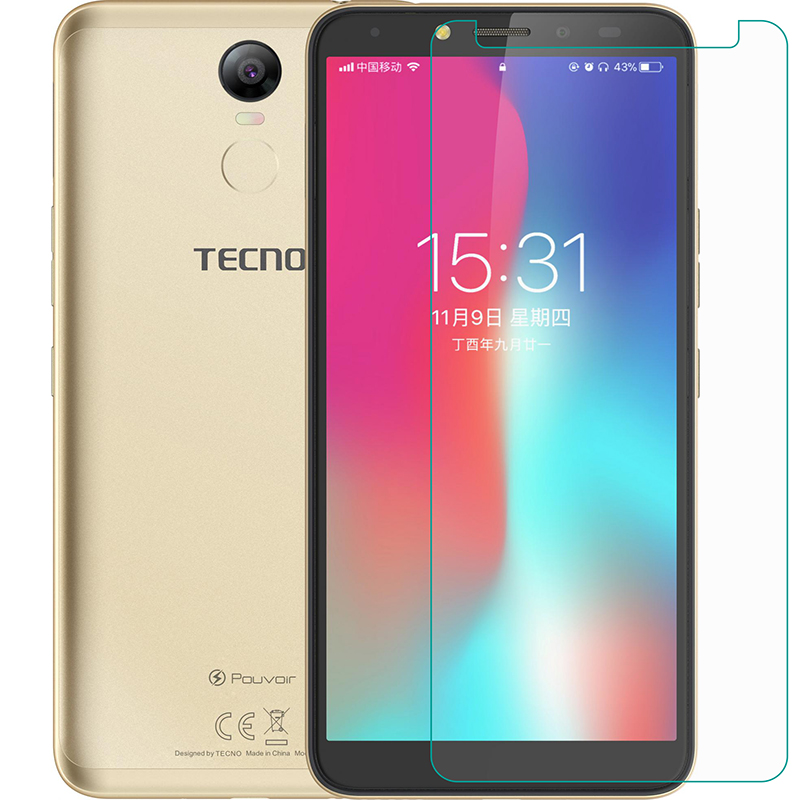 Tempered Glass For Tecno Pouvoir2 /Pouvoir 2 Pro LA7 GLASS 9H Protective Film Explosion-proof Clear Screen Protector Phone Cover