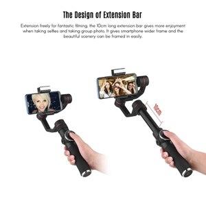 Image 4 - Sıcak 3C AFI V5 taşınabilir 3 eksenli el Gimbal cep telefonu Video sabitleyici ile kısılabilir doldurun işık için 6 inç Smartpho