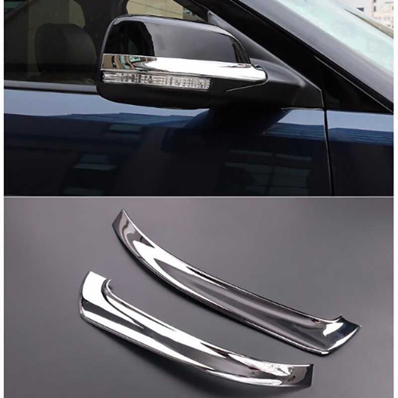 UBLUEE Chrome Side Rearview <font><b>Mirror</b></font> Rubbing Strip Cover Trim 2 Pcs Fit <font><b>For</b></font> <font><b>Ford</b></font> <font><b>Explorer</b></font> 2011 - 2018 ABS <font><b>Accessories</b></font> Interior image