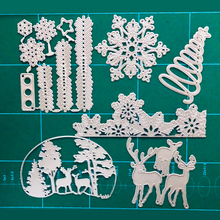 1PCS Stanzschablonen die cuts FEESTIGO Metal cutting dies for scrapbooking Christmas die cuts 2019 New Snowflake X-mas tree dies