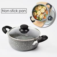 Saucepan General Frying Pan Soup Pot Non stick Cotaing Casserole With Lid Kitchen Cooking Accessory