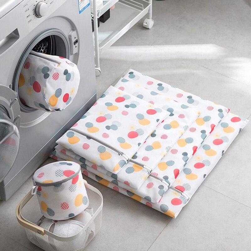 1Pc Microfiber Zippered Laundry Bag Mesh Washing Bag Socks Bra Lingerie Underwear Laundry Care Laundry Bag Travel Storage Bag