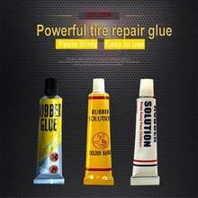 Cola adesiva de borracha de cimento tubo interno reparação punctura remendo solução ferramenta reparo da bicicleta cola acessórios da motocicleta tslm1