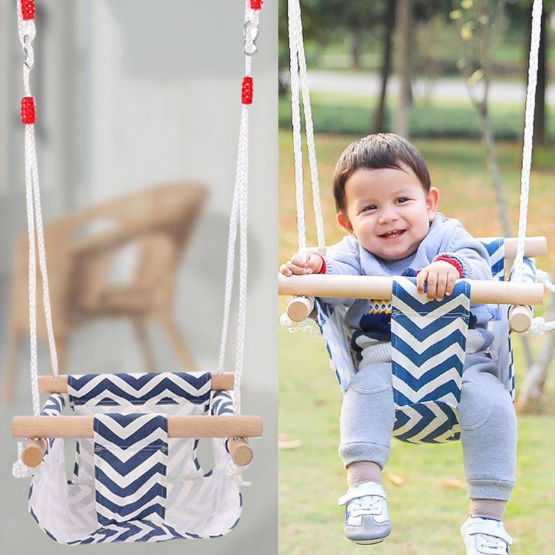 Safety Baby Swing Hammock Seat Patchwork Printed Outdoor Indoor Hanging Chair Kindergarten Children Fun Activity Gear