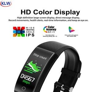 Image 1 - QW18T Smart Bracelet Measure Body Temperature Heart Rate Blood Pressure Bluetooth Sports Information Reminder Smart watch