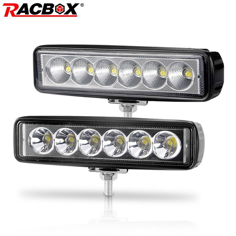 6 Inch 18W Offroad DRL LED Work Light Flood Beam Spotlight 12V 24V Daytime Running Light For Jeep 4x4 ATV 4WD SUV Car Styling