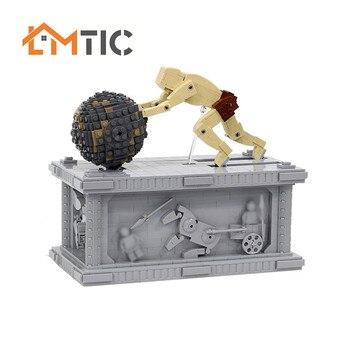 MOC Bausteine 3955 Film 2 Sisyphus Kinetische Skulptur Mit motor Core Modell Ziegel Spielzeug Für Kinder Kinder weihnachten Geschenke