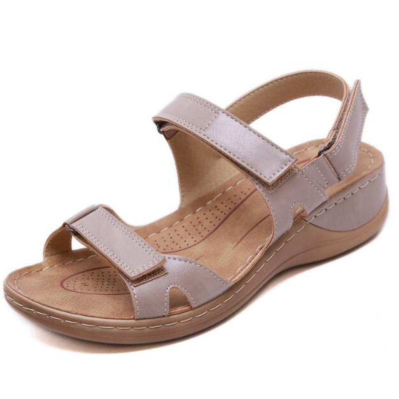 Image 3 - BEYARNENew summer sandals for women non slip, sewing thread sandals, casual open toe shoes for ladies, platform beach shoesL017Low Heels   -