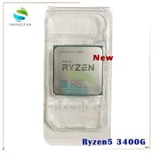 Novo amd ryzen 5 3400g r5 3400g 3.7 ghz quad core oito thread 65 w processador cpu yd3400c5m4mfh soquete am4 sem ventilador