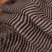 160*100 см Коричневый Павлин заколки для волос пушистый мех искусственный мех фабричное меховое пальто Подушка Чехол жилет fausse fourrure цветные ткани