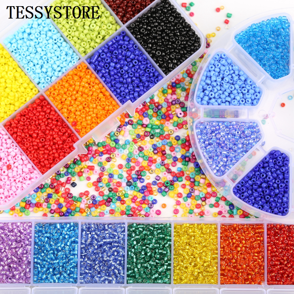 TESSYSTORE Box Set 2mm Glass Seed Beads Czech Charm Crystal Spacer Glass Beads For Jewelry Making Rings DIY Handmade Accessories(China)