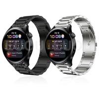 Cinturino in titanio per Huawei Watch cinturino a 3 cinturini per Huawei GT 2 Pro / GT2 46mm cinturino in metallo cinturino in acciaio inossidabile