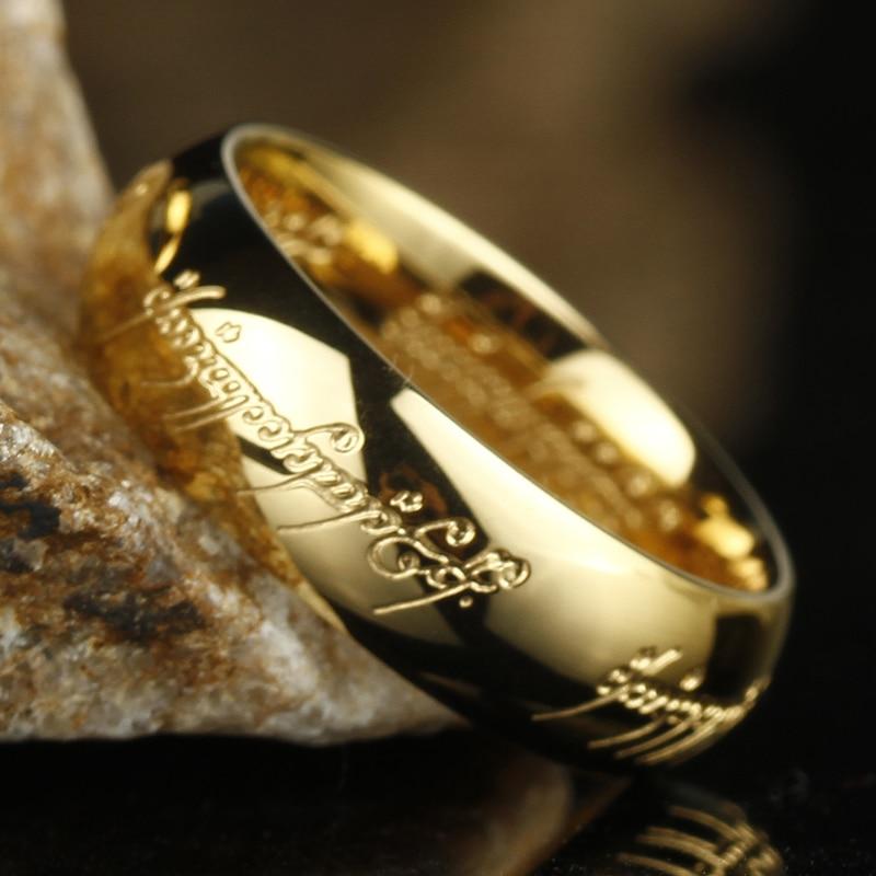 Midi נירוסטה אחד טבעת של כוח 3D מגולף מעודן חתונה טבעת אוהבי נשים גברים תכשיטים סיטונאי
